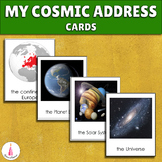 My Cosmic Address / Me on the Map Sequencing Cards