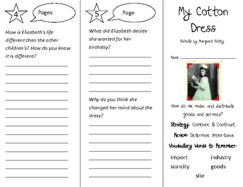 My Cotton Dress Trifold - 3rd Grade Literacy by Design Theme 9
