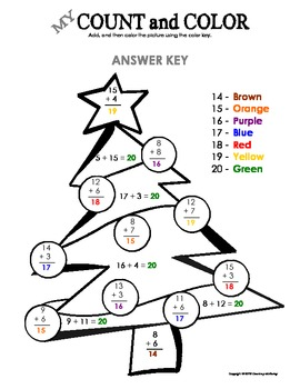 My Count and Color Christmas Tree - Winter/Christmas (Addition up to 20)