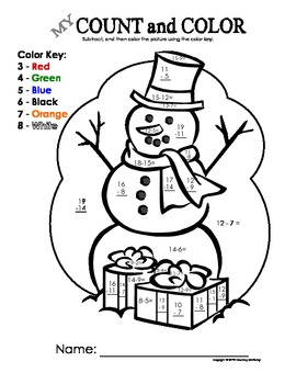 My Count and Color Snowman - Bundle Pack (add & subtract through 20)