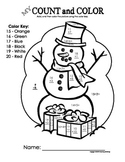 My Count and Color Snowman - Winter/Christmas (Addition up to 20)