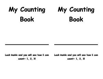 My Counting Book- Kindergarten & First Grade