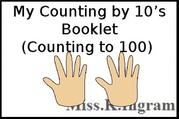 My Counting By 10's Booklet (to 100)