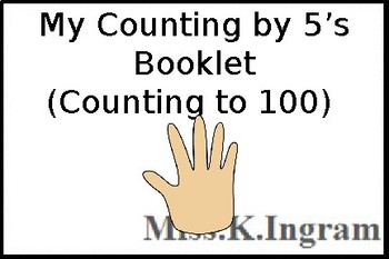 My Counting By 5's Booklet (to 100)