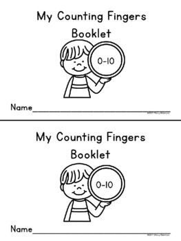 My Counting Fingers Mini-Booklet, Version #1