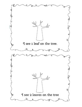 My Counting Leaves Book for 1:1 Correspondance