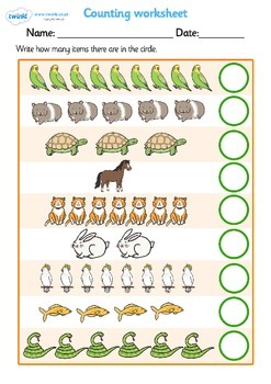 My Counting Worksheet (Pets)