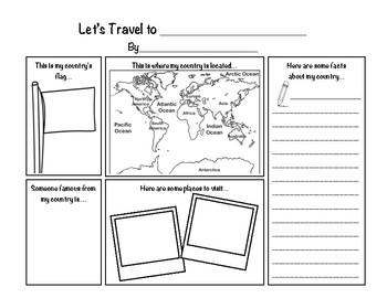 My Country Report Graphic Organizer by Stephanie Donaldson | TpT