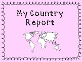 My Country Report Lapbook