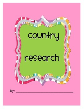 My Country Research