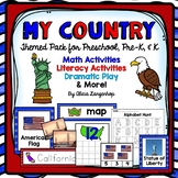 My Country USA Theme Activtiy Pack