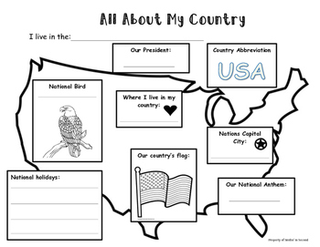My Country Worksheet