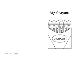 My Crayons: A Read and Color Guided Reading Book Set