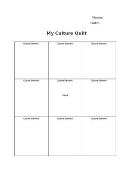 My Culture Quilt
