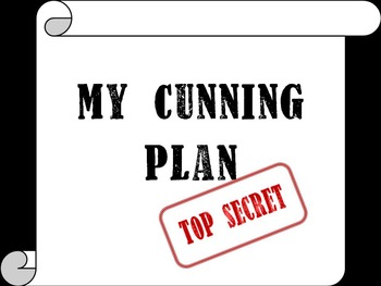 My Cunning Plan (Worksheet)
