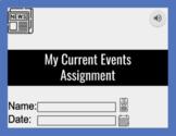 My Current Events - (w/ Audio) Google Slides
