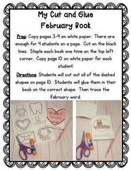 My Cut and Glue February Book