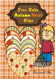 My Cute Autumn Heart Clips