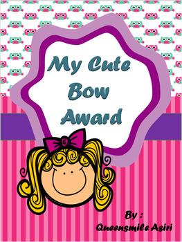 My Cute Bow Award