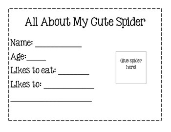 My Cute Spider ~ Halloween Craft