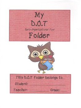 My D.O.T Folder cover 2013