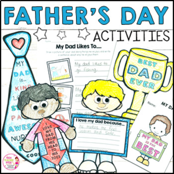 Father's Day Activities - Worksheets, Crafts and Writing T