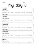 My Daily 5 Checklist