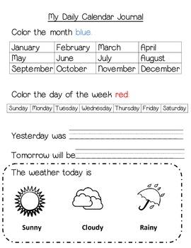 My Daily Calendar Journal