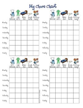 My Daily Chore Chart - BOY