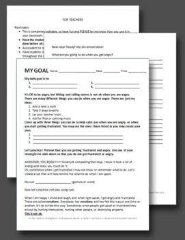 My Daily Goal; Behavior Strategies For The Exceptional Learner