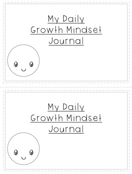 My Daily Growth Mindset Journal - Help students develop a growth mindset!
