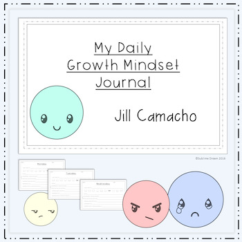 My Daily Growth Mindset Journal - Help students develop a