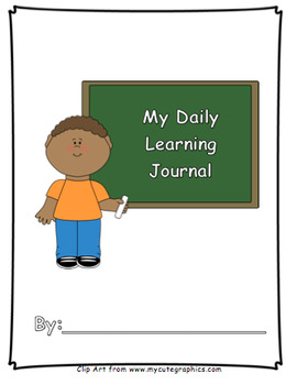 My Daily Learning Journal (With Behavior Indicator) - I Can Statement/Objective