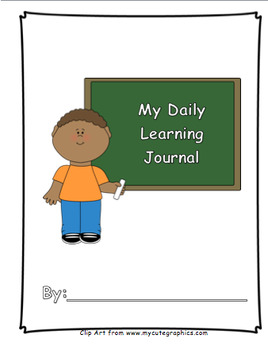 My Daily Learning Journal (Without Behavior Indicator)-I Can Statement/Objective