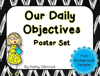 My Daily Objectives -- Poster Set