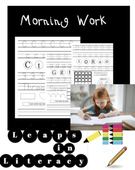 Math and Literacy Morning Work for Beginners