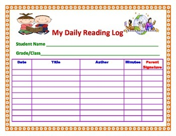 My Daily Reading Log