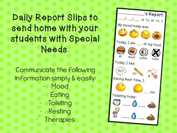 My Daily Report - for Students with Special Needs