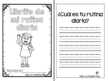 Spanish Speaking : My Daily Routine booklet / Mi rutina diaria - librito