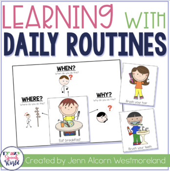 My Daily Routines {For Speech Therapy & Special Education Classrooms}
