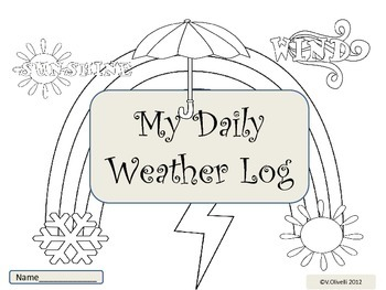 ESL Newcomers: My Daily Weather Log-Early Primary and ELL Newcomers