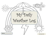 ESL Activity: My Daily Weather Log-Early Primary and ELL Newcomers