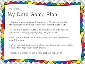 My Data Game Plan: Goal Setting Tool and Progress Tracker for Young Students