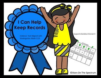 Data Notebook * Kindergarten Math Common Core * Record Keeping