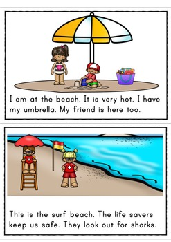 My Day At The Beach Differentiated Easy Readers