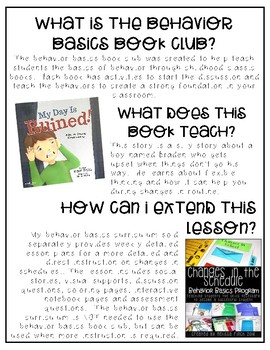 My Day Was Ruined- Behavior Basics Book Club