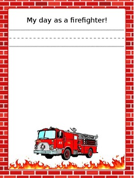 my day as a firefighter template by catherine hamilton tpt