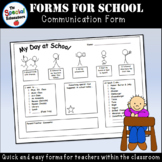 My Day at School - Communication Form