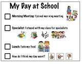 My Day at School Self-Assessment Social Story