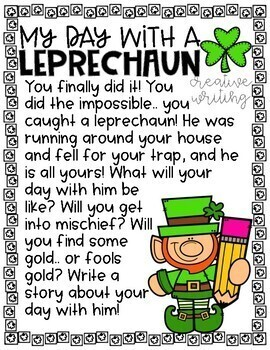 My Day with a Leprechaun Imaginative Narrative & Craft